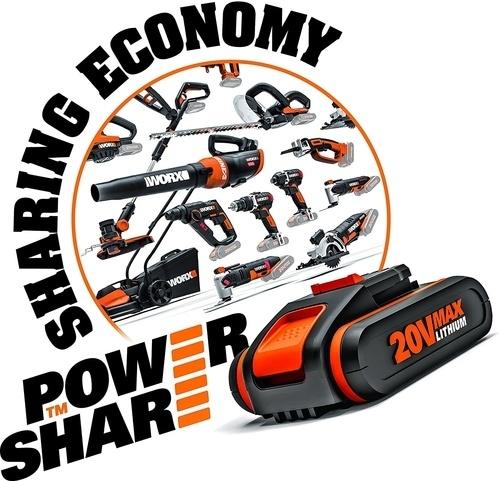 Batterie Power share de la marque Worx compatible avec les tondeuse gazon robot Worxlandroid