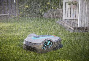 tondeuse robot Gardena Sileno Life par temps pluvieux