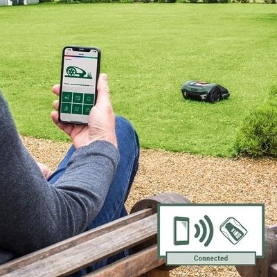 Tondeuse Autonome Bosch Indego gérer par le smartphone