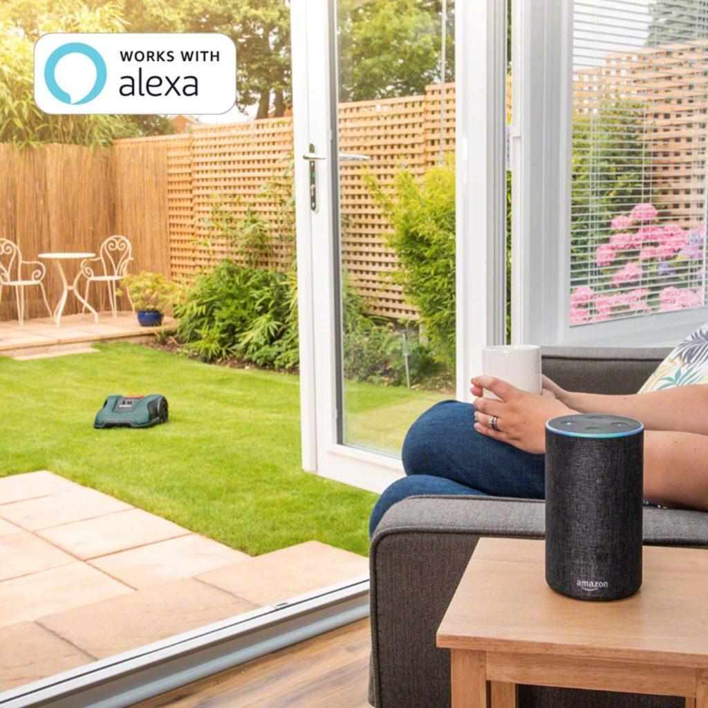 Alexa propose de contrôler sur robot tondeuse bosch Indego à distance