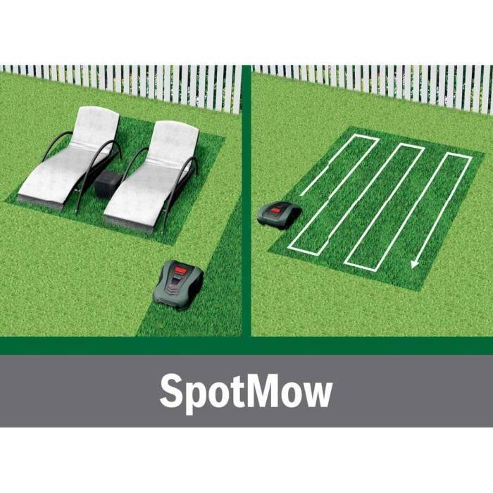 Technologie SpotMow pour tondre sur des toute petite zone avec votre Robot Indego M+